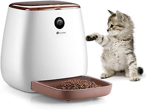 Houzetek Comedero Automático Gatos/Perros dispensador de Comida ...