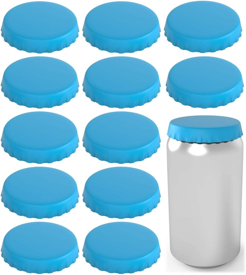 Can Topper Can Saver Can Covers and dust Can Caps Silicone Soda Can Lids bees Shield your coke Can Stopper 2 Pack, Orange Fits standard soda cans beer and pop cans from flies