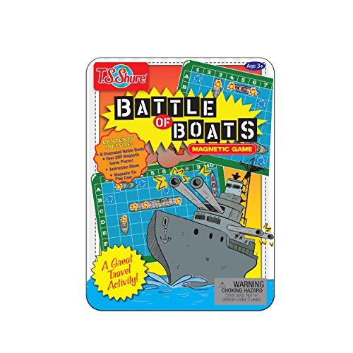 (T.S. Shure Battle of Boats Mini Game Tin Magnetic )
