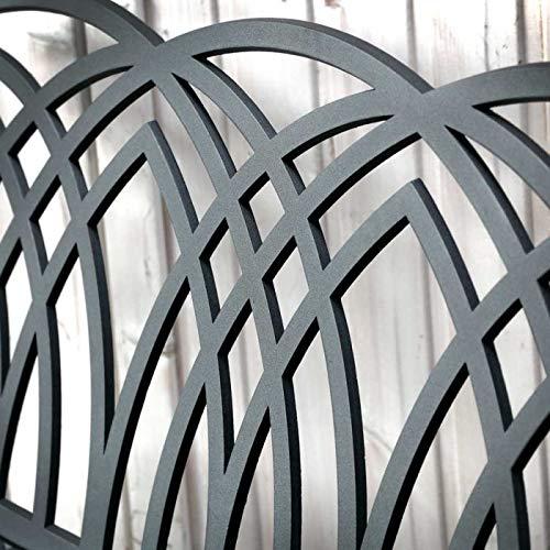 Antique Bronze Finish Blue Cushion Buit To Last Weatherproof Lazy Susan April Sand-Cast Aluminium Garden Bench