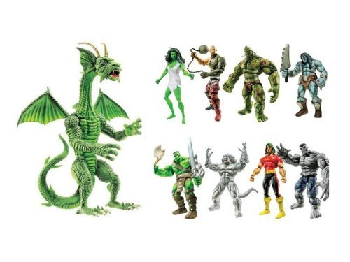 Marvel Legends Hulk Set of 8 Fin Fang - Hasbro Marvel Legends 2008