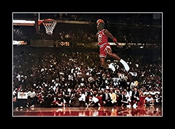 93b0ca3d09a7 Amazon.com  8 x 10 All Wood Framed Photo Michael Jordan Famous Foul Line  Dunk  Posters   Prints