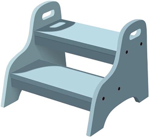 ZXQZ Taburete de Escalera para niños Taburete de Escalera de baño de Madera Maciza Taburete de Escalera Antideslizante Taburete de múltiples Funciones Silla de Escalera Plegable (Color : Azul): Amazon.es: Hogar