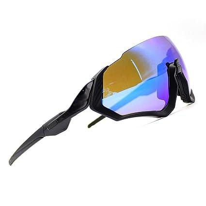 94e2471b83 2018 New Cycling Sunglasses kit 3LS Revo + Polarized + Transparent (Black  Frame+Blue