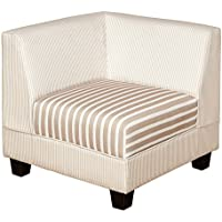 Target Marketing Systems Reston Collection Contemporary Upholstered Corner Sofa Chair, Striped Tan