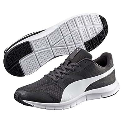 PUMA Men's Flexracer, Asphalt-White,4H Running Shoes