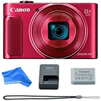 Canon PowerShot SX620 Digital Camera w/25x Optical Zoom - Wi-Fi & NFC Enabled (Red)