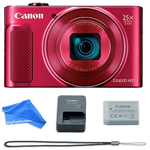 Canon PowerShot SX620 Digital Camera w/25x Optical Zoom – Wi-Fi & NFC Enabled (Red)