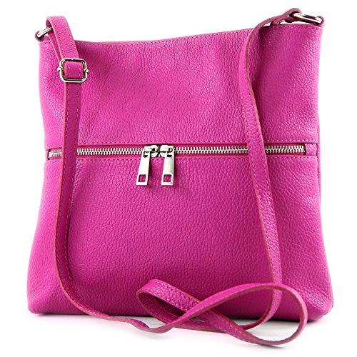 modamoda de - Made in Italy - Bolso cruzados para mujer siehe Beschreibung, color rosa, talla siehe Beschreibung