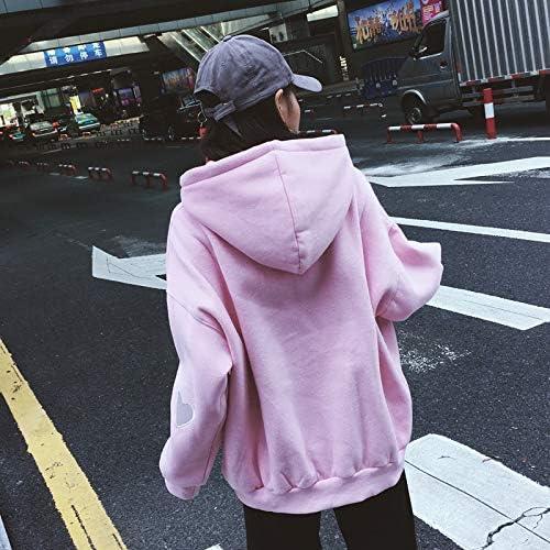HOVYGB Frauen Drucken Pullover Sweatshirts Hoodies Casual Sweatshirt Tops Für Frauen Rosa