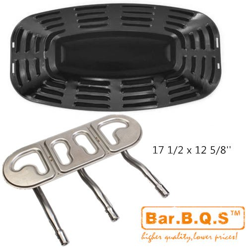 Bar.b.q.s Uniflame GBC730W, GBC621CR-C, GBC730E-C Ersatz-Kit enthält Edelstahl 1pack Brenner und 1PACK Porzellan Stahl Wärme Gasgrill Teile Grill-Platte