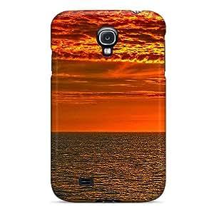 New Fashion Premium Tpu Case Cover For Galaxy S4 - Volcano Sky Golden Sea
