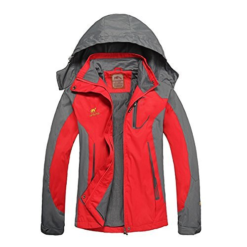 Diamond Candy Women's Hooded Sportswear Waterproof Jacket Outdoor Softshell...
