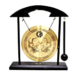 Mudra Crafts Miniature Zen Art Oriental Asian Office Home Desktop Mini Decor Gong Chime (Dragon)