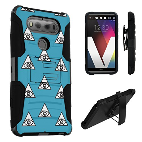 LG V20 Case, DuroCase Hybrid Dual Layer Combat Armor Style Kickstand Case w/ Belt Clip Holster Combo for LG V20 (Released in 2016) - (Eye Of Providence - Mall Providence In