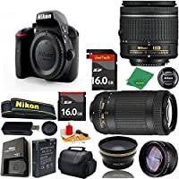 Great Value Bundle for D3300 DSLR – 18-55mm AF-P + 70-300mm AF-P + 2PCS 16GB Memory + Wide Angle + Telephoto Lens + Case