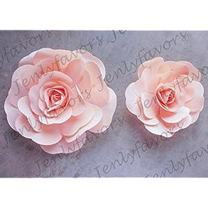 "JenlyFavors 12"" & 16"" Foam Backdrop Flowers for Beautiful Room Wall Decoration (2 Pieces) 60"