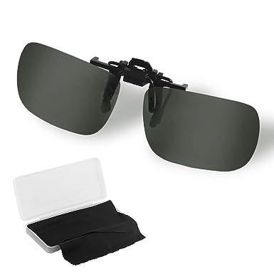 Stanbow Gafas de Sol con Clip, Gafa de Sol Polarizadas de Metal Lente Irrompible contra