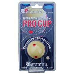 "Aramith 2-14"" Regulation Size Billiardpool Ball: Super Aramith Pro Cup Cue Ball With 6 Red Dots"