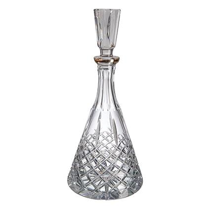 Cristal de Bohemia Blues Filo Botella de Licor o Whisky, 16x16x34 cm