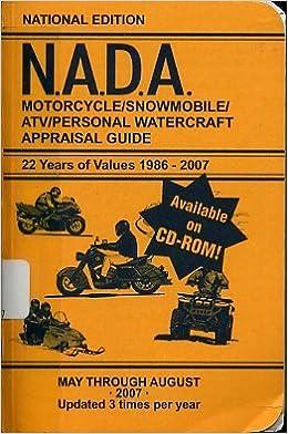Nada Atv Values >> Nada Motorcycle Snowmobile Atv Personal Watercraft Appraisal