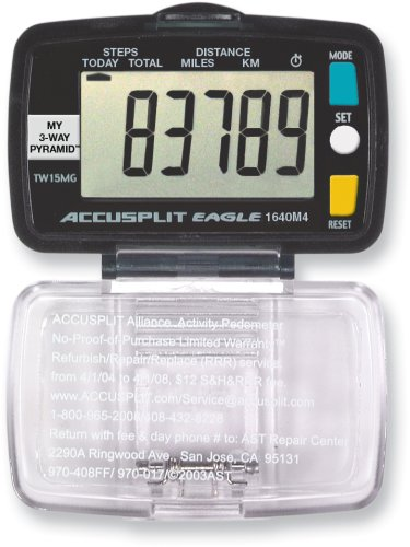 ACCUSPLIT Eagle AE1640M4 Step and Distance Pedometer