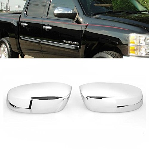 Brand New 2X Upper Half Chrome Side Door Mirror Covers For Chevy Silverado Chevy Avalanche Chevy Tahoe Suburban SUV GMC Sierra GMC Yukon Chrome Side Door Mirror Cover