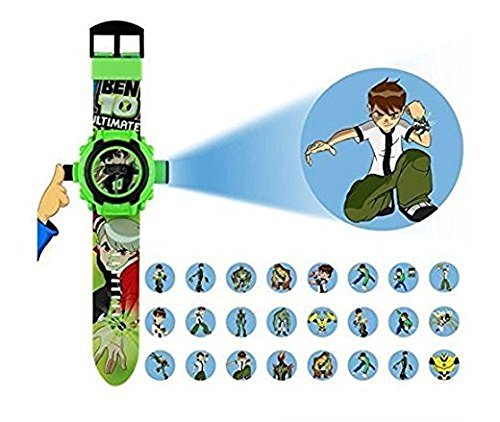 Price comparison product image Ben 10 24 different Cartoon images Projector Watch Kids Digital Wrist Watch cartoon character watch