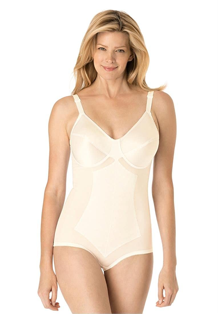 Rago Women's Plus Size All-In-One Medium Shaping Body Briefer