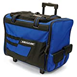 Vaughan 050024 18'' Wide Mouth Rolling Tool Storage Organizer Bag with Telescoping Handle and Oversize Wheels