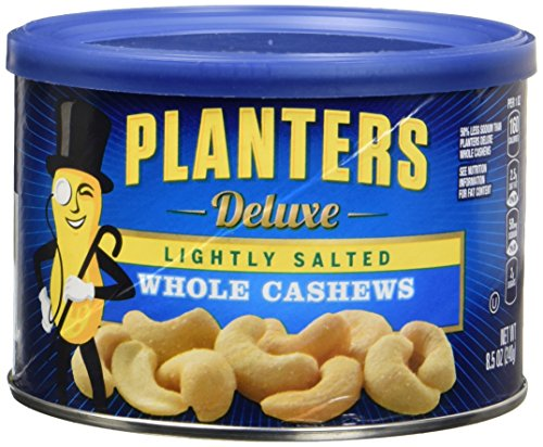 (Planters Lightly Salted Deluxe Whole Cashews (8.5 oz Canisters, Pack of 3))