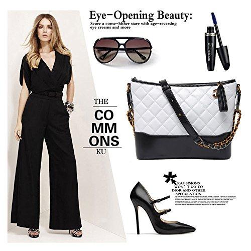 Hobo Borse borse bianco tracolla Rita Borse moda a per catena a Normia tracolla grande colore di donne a in vera pelle le di blocco di Z8P8qxg