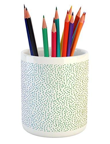 Art Spectrum Liquid - Ambesonne Colorful Pencil Pen Holder, Gradient Downpour Figure in Large Spectrum Spotted Little Liquids Wet Work of Art, Printed Ceramic Pencil Pen Holder for Desk Office Accessory, Multicolor