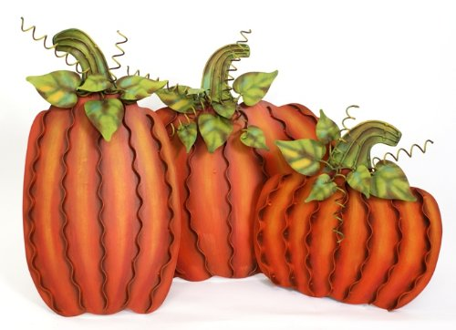 Metal Pumpkin Patch Set