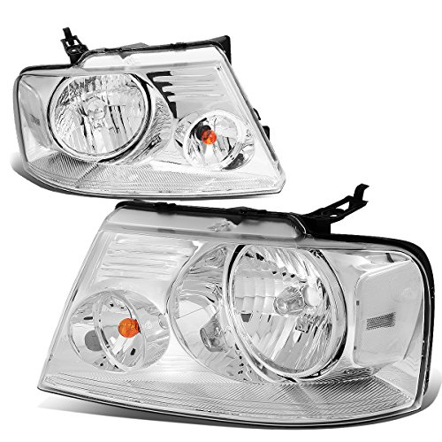 For Ford F150 11th Gen Chrome Housing Clear Corner Headlight Lamp