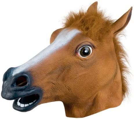 New Horse Head Mask Latex Prop Style Toys Party Halloween US Stock
