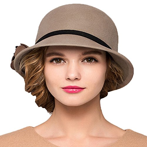 Falls Church Costume Store (Maitose&Trade; Women's Bow Wool Felt Bucket Hat)