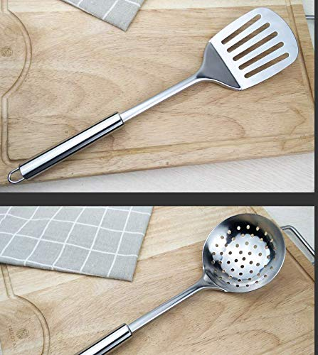 Kitchen Stainless Steel 8-Piece Cooking Spoon Set, Stainless Steel Cooking Utensils - Kitchen Utensils Set of 8 by Unknown (Image #4)