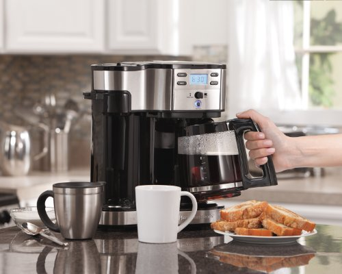 Hamilton Beach 49980A 2-Way Coffee Maker, full craft