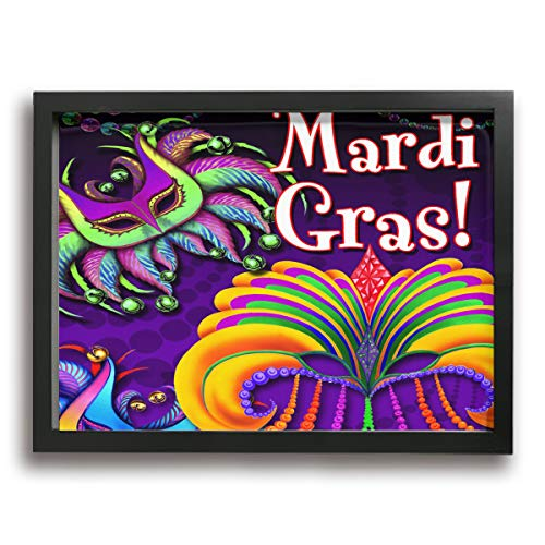 MISSMORN Framed Canvas Prints Wall Art Mardi Gras Modern