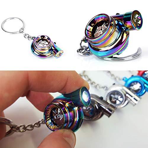 Wonolo Neo Turbo Keychain Mini Keyring Rainbow LED BOV Sound Turbocharger Car Drift