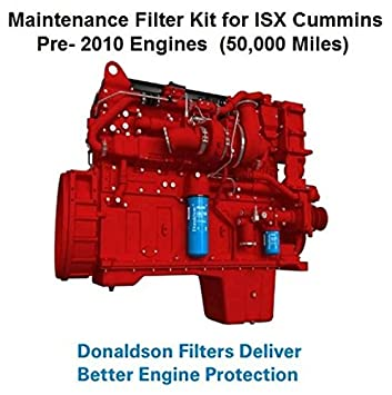 Maintenance Filters Kit for ISX Cummins Pre- 2010 Engines (50,000 Miles) by  SUINPLA