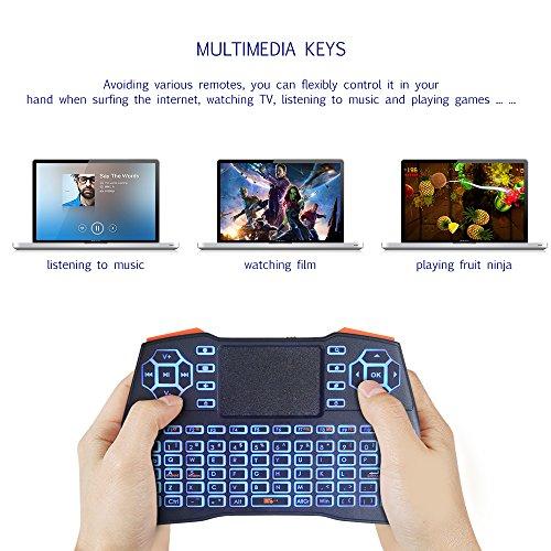 KUD i8+ 2 4GHz Plus Mini Wireless Keyboard with Touchpad