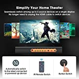 (Upgraded) ROOFULL 5 Port 4K HDMI2.0 Switch with