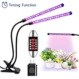 Cheap Plant Grow Light Timed ON/OFF Function – 36 LED 3H/6H/9H/12H/15H Timer 5 Dimmable Plant Grow Lamp for Indoor Plants[2018 Upgraded]