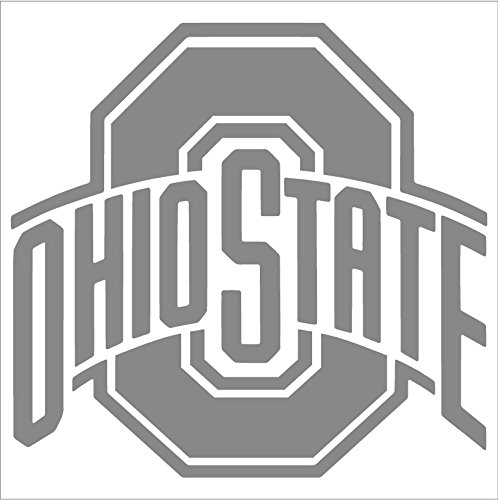 (Rico Industries - Ohio State Buckeyes Chrome Window Graphic Decal (6