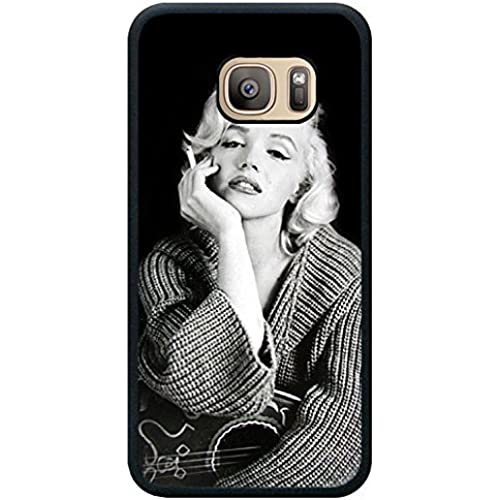 S7 TPU Phone Case,Marilyn Monroe 2 Popular Gifts Case Cover for Samsung Galaxy S7 (Black) Sales