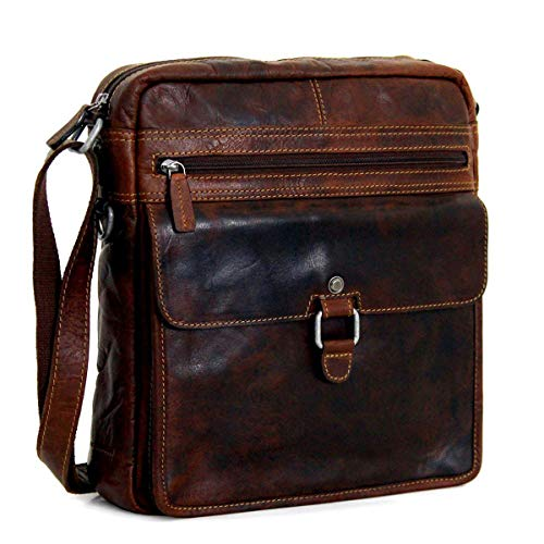 Jack Georges Voyager Large Cross Body (Brown) for sale  Delivered anywhere in USA