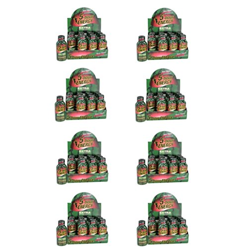 5 Hour Energy Shot Extra Strength Strawberry/Watermelon- 96 Pack of 2 Ounce Bottles by 5 Hour Energy