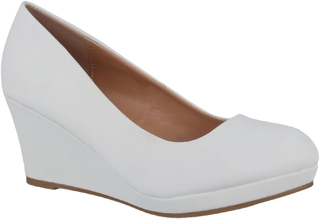 Elara Zapato de Tacón Alto Mujer Cuña Plataforma Chunkyrayan